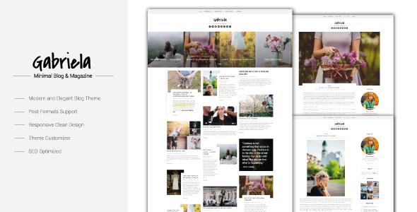 Gabriela - Crafted Blog WordPress Theme