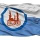 Cairo City Isolated Waving Flag