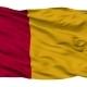 Rome City Isolated Waving Flag