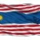 Kuala Lumpur City Isolated Waving Flag