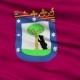 Madrid City  Waving Flag