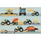 Modern Agricultural Vehicle Isolated Set