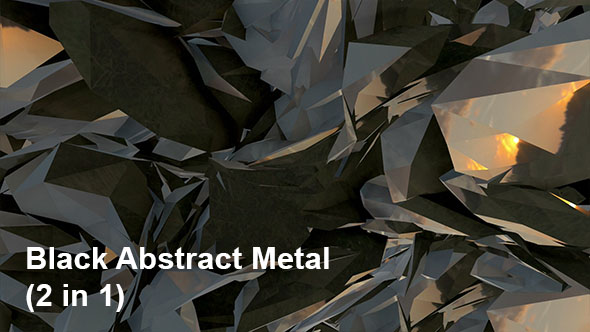 VideoHive Black Abstract Metal 2in1 19906009