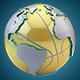 Golden Basketball Earth Map Loop