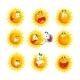 Cartoon Sun Various Emoticons