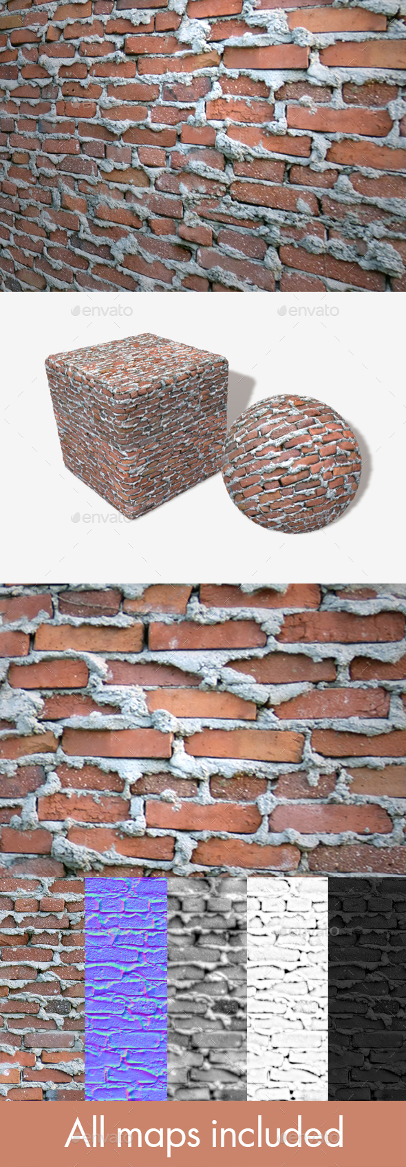 3DOcean Extremely Bad Brickwork Seamless Texture 19939622