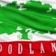 Waving National Flag of Woodland City, California
