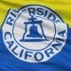 Waving National Flag of Riverside City, California