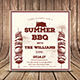 BBQ Holiday Summer Invitation