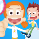 Kids and Bubbles Cartoon Intro
