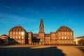 Christiansborg Palace in Copenhagen Denmark, Danish parliament b