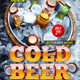 Cold Beer Flyer Template