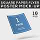 Square Paper Flyer Poster Mock-Up