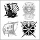 Set of Viking Emblems