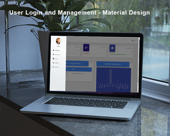 Codeigniter User Login and authentication - Material Design