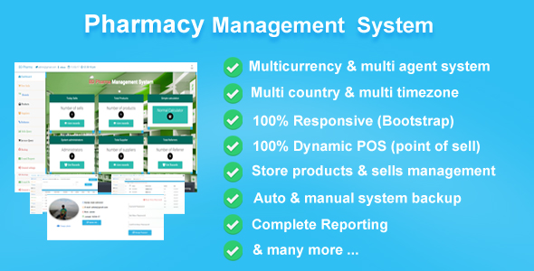 Pharmacy Management System, bootstrap POS CMS