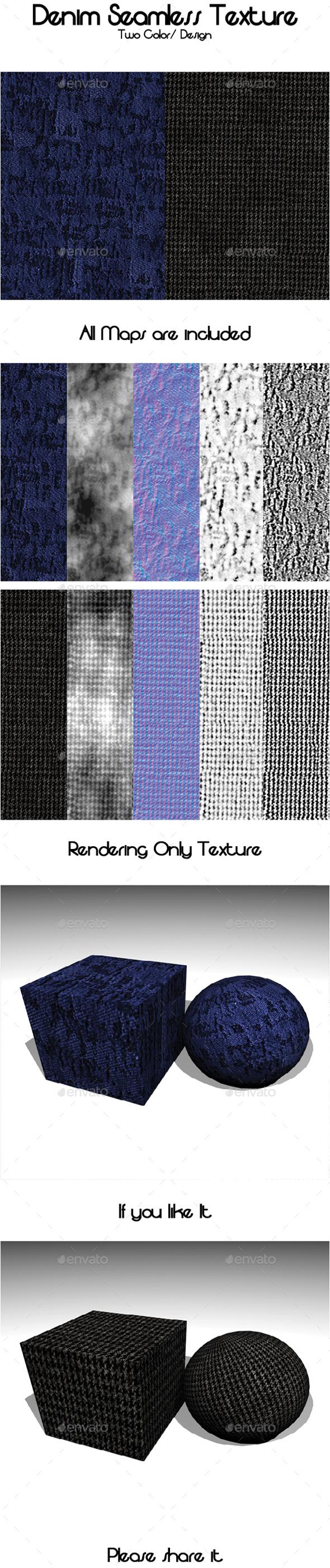 3DOcean Denim Seamless Texture 19944629