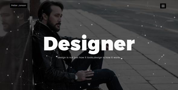 Designer - Personal Portfolio Template
