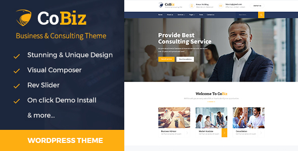 Cobiz -Business Consulting and Professional Services WordPress Theme