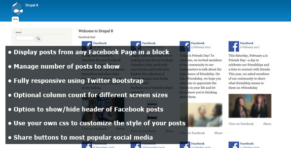 Facebook Block - Page Plugin for Drupal 8