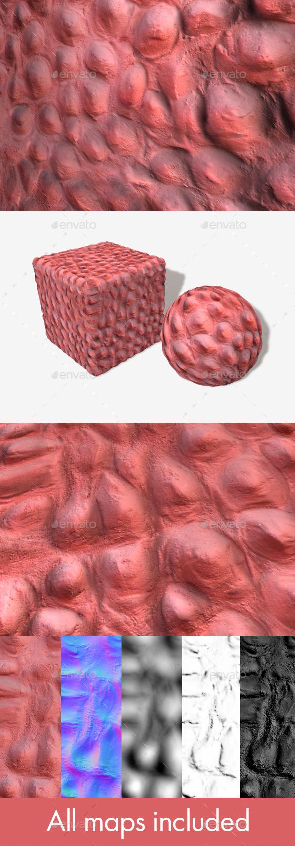 3DOcean Strange Lumpy Pink Wall Seamless Texture 19946709