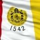 Waving National Flag of San Diego City