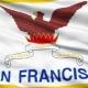 Waving National Flag of San Francisco City