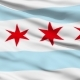 Waving National Flag of Chicago City
