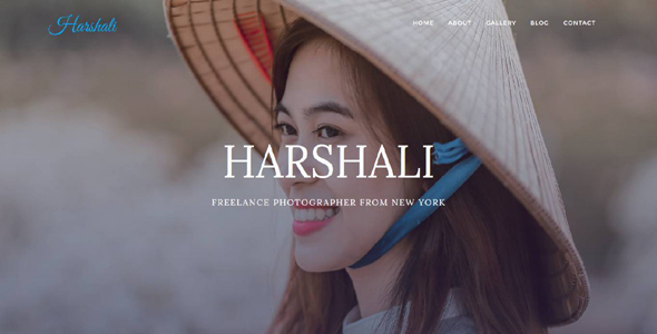 Harshali - FullScreen Photography Template