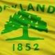 Waving National Flag of Oakland City