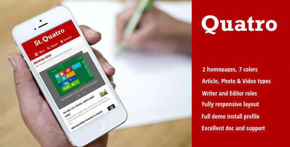 Quatro - News & Magazine Drupal 8 Theme