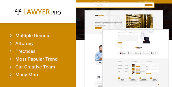 Lawyer Pro - Template for Lawyers Attorneys and Law Firm