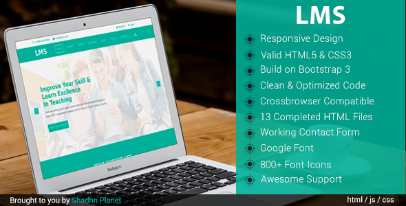 Download LMS Education - HTML5 Template