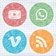 Scribble Social Media Icon
