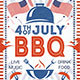 4th of July Labor Day BBQ Flyers
