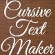 Cursive Text Maker