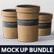 Round Paper Box Mockup Bundle