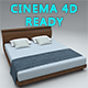 Modern bed Cinema 4D