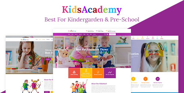KidsAcademy -Children Kindergarten &amp College HTML Template (Youngsters)