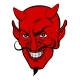 Devil Cartoon Face