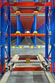Pallet Storage View Inside Racking System for Distribution Center