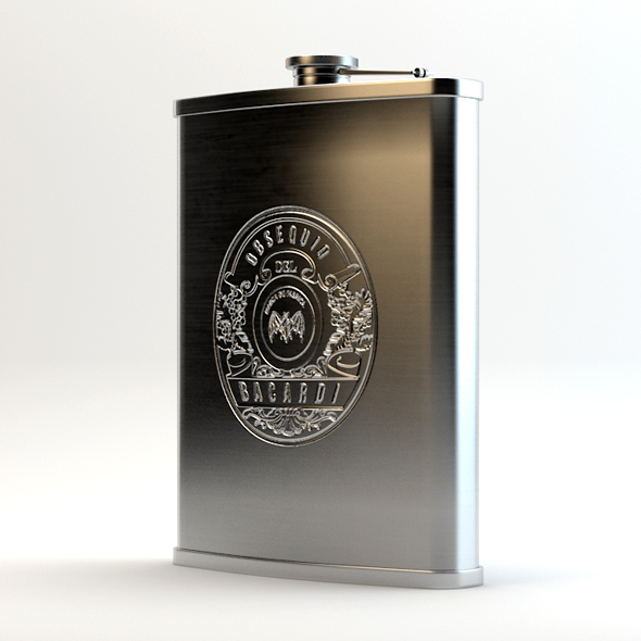 3DOcean Alcohol Hip Flask Stainless Steel 19953530