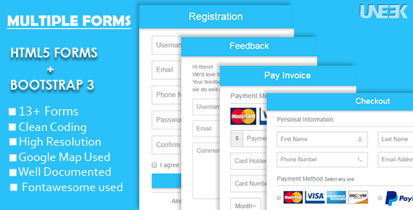Download Responsive HTML5 Forms with Bootstrap 3