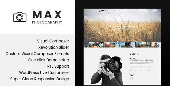 Download Max Photograpy - WordPress Theme for Photographers