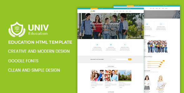 Download Univ – Education HTML5 Template