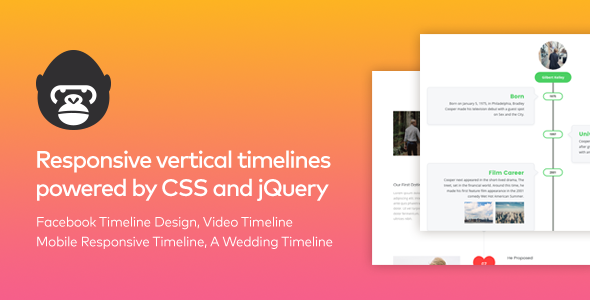 Timeline Gorilla – Responsive Vertical jQuery Timeline (Miscellaneous)