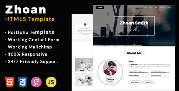 Download Zhoan - Personal Portfolio Template