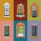 Colorful Windows Set