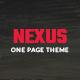NEXUS_onepage PSD template