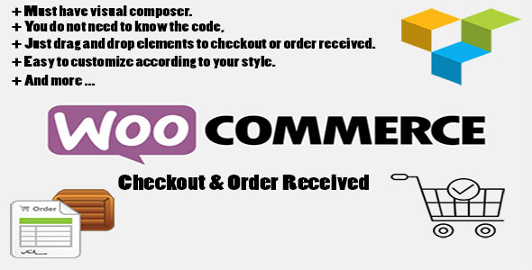 Checkout & Order received with Woocommerce page for Visual Composer